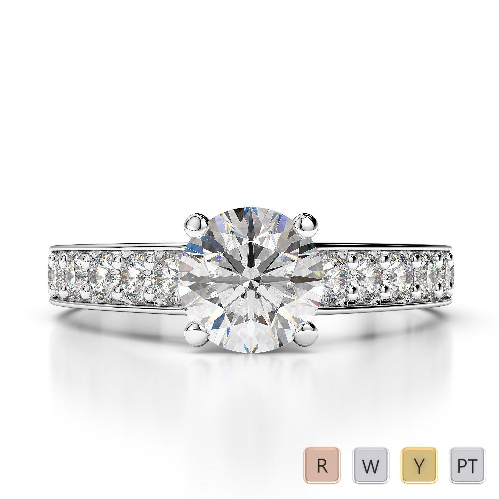 Gold / Platinum Diamond & Gemstone Engagement Ring AGDR-1202