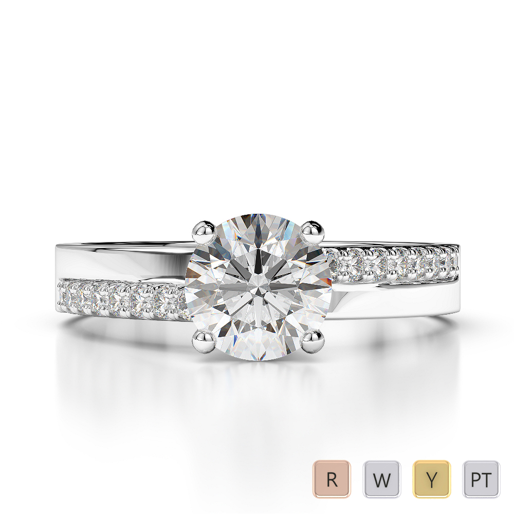 Gold / Platinum Diamond Engagement Ring AGDR-1206