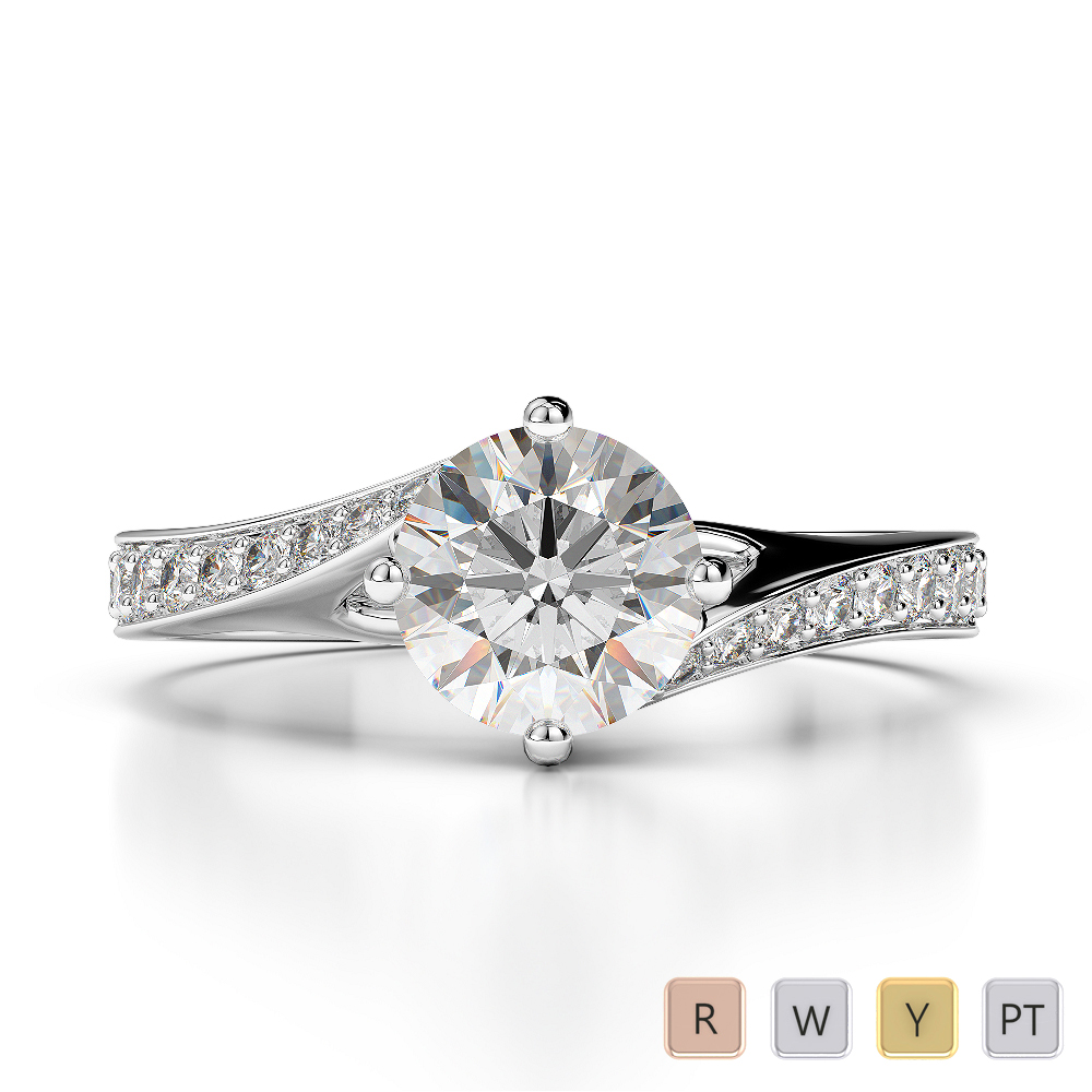 Gold / Platinum Diamond Engagement Ring AGDR-1207