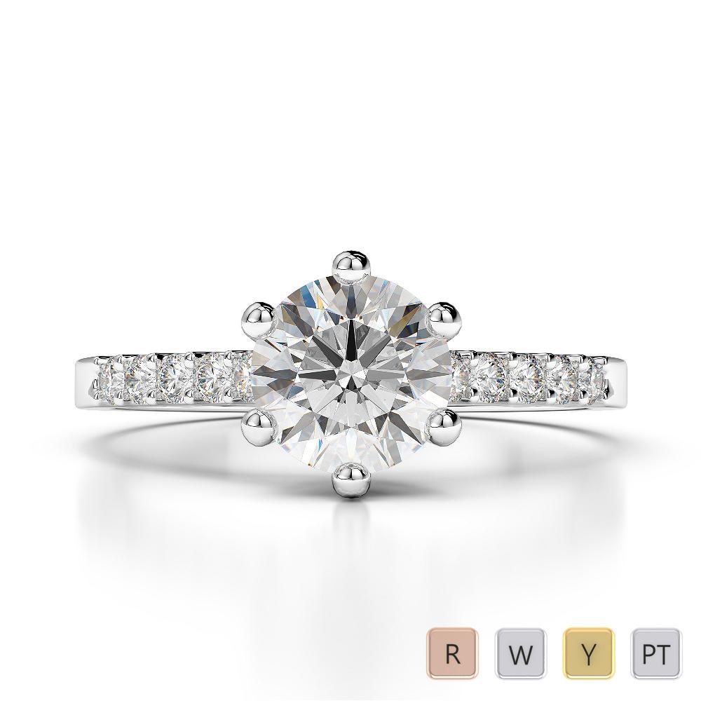 Gold / Platinum Diamond & Gemstone Engagement Ring AGDR-1208