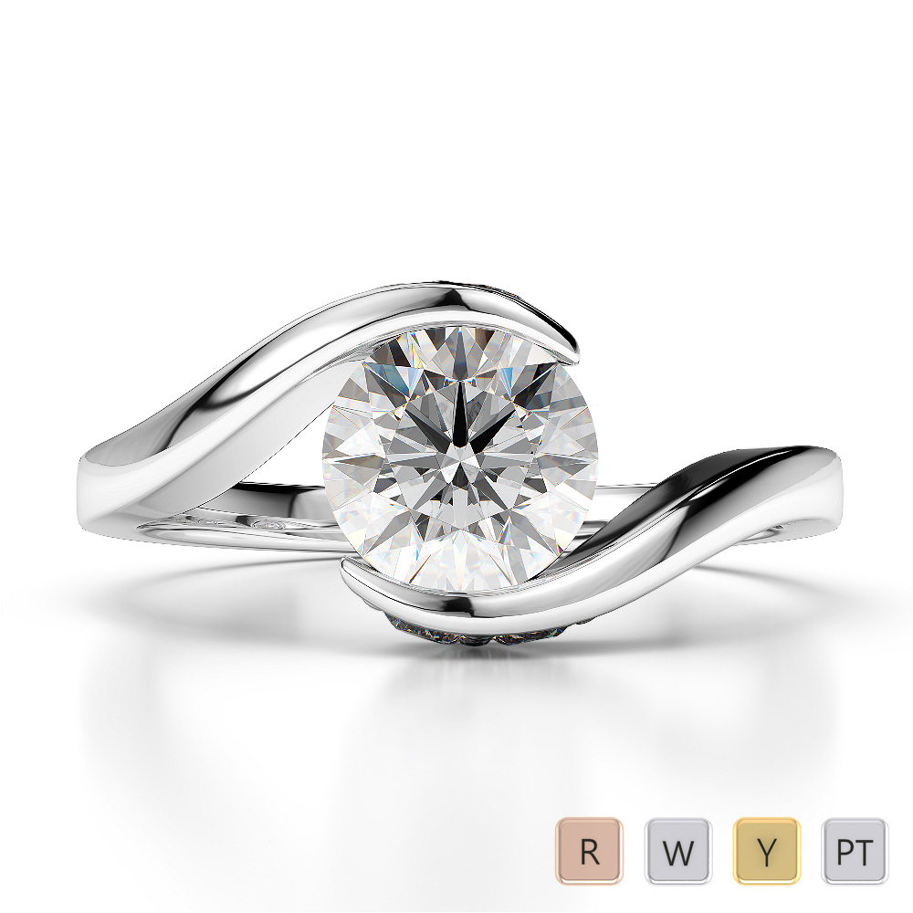 Gold / Platinum Diamond Engagement Ring AGDR-1209