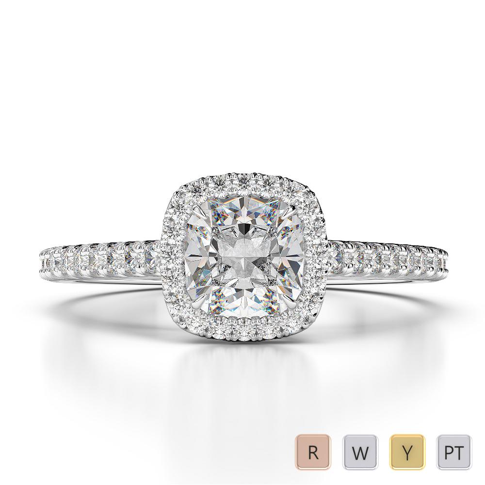 Gold / Platinum Diamond Engagement Ring AGDR-1212