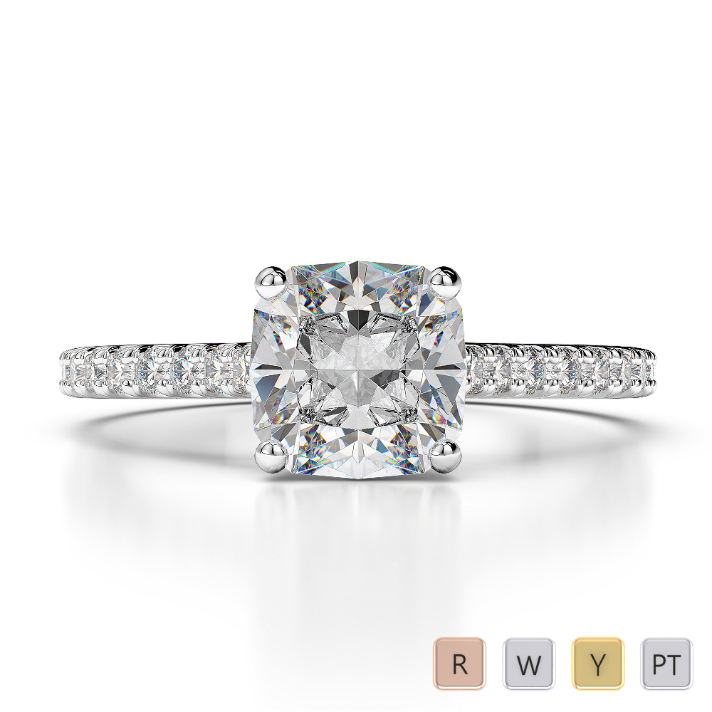 Gold / Platinum Diamond Engagement Ring AGDR-1216