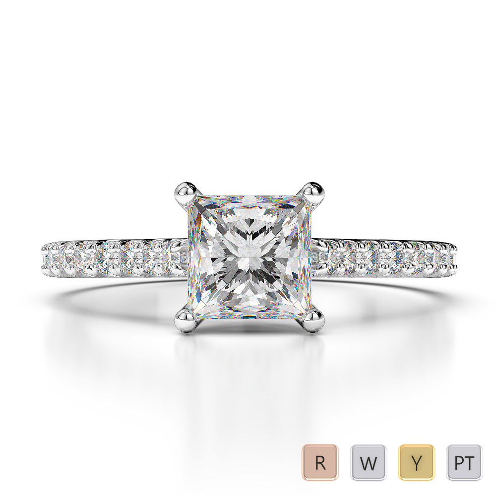 Gold / Platinum Diamond & Gemstone Engagement Ring AGDR-1217
