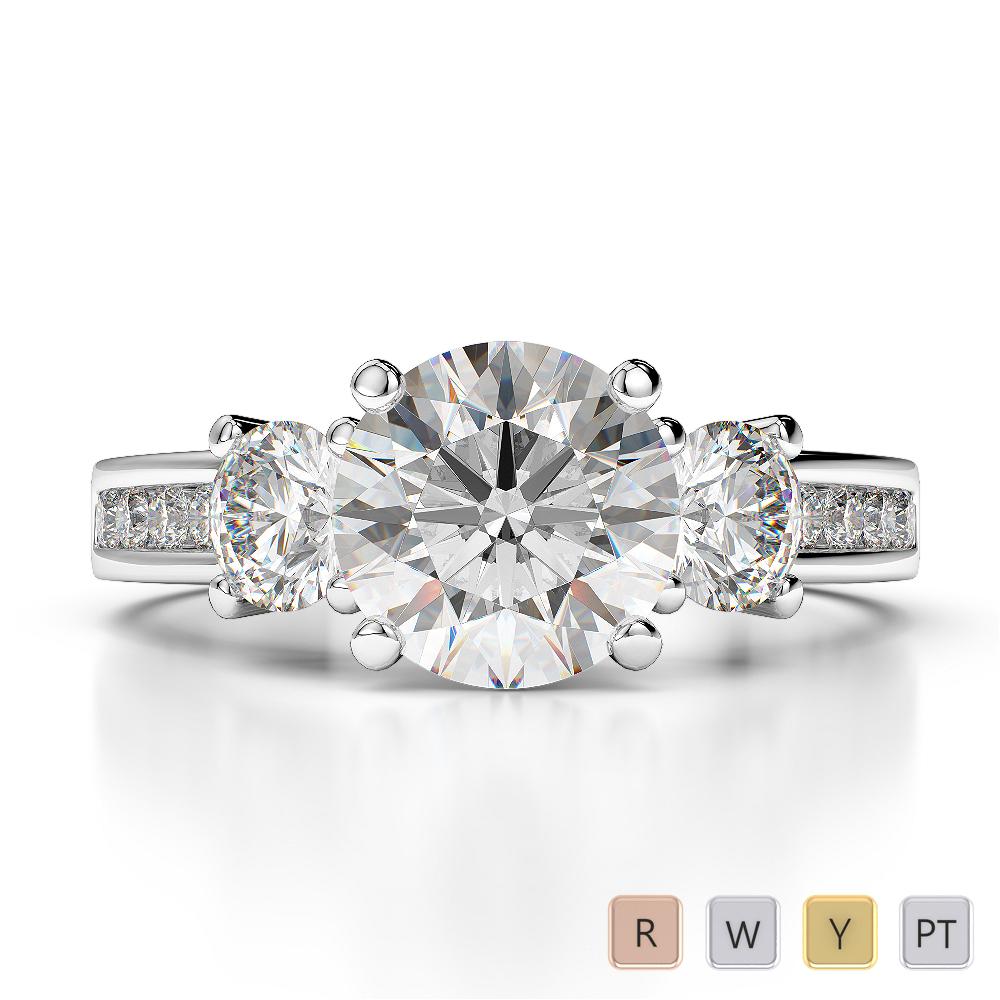 Gold / Platinum Diamond & Gemstone Engagement Ring AGDR-1218