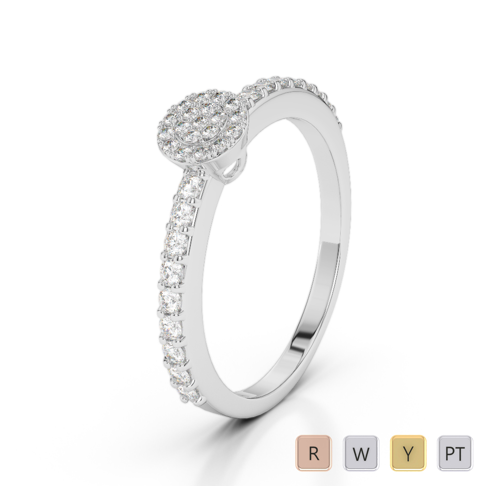 Gold / Platinum Diamond Engagement Ring AGDR-2010