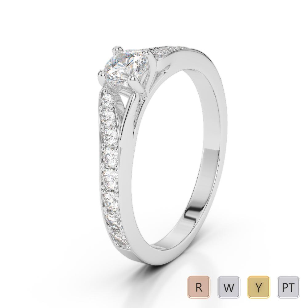 Gold / Platinum Diamond & Gemstone Engagement Ring AGDR-2012