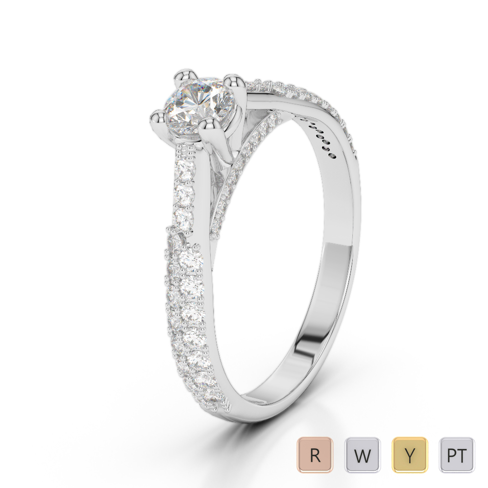 Gold / Platinum Diamond & Gemstone Engagement Ring AGDR-2014