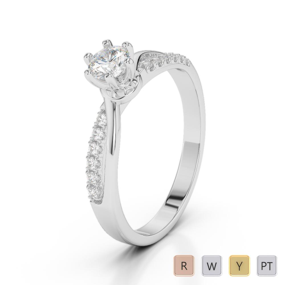 Gold / Platinum Diamond & Gemstone Engagement Ring AGDR-2022
