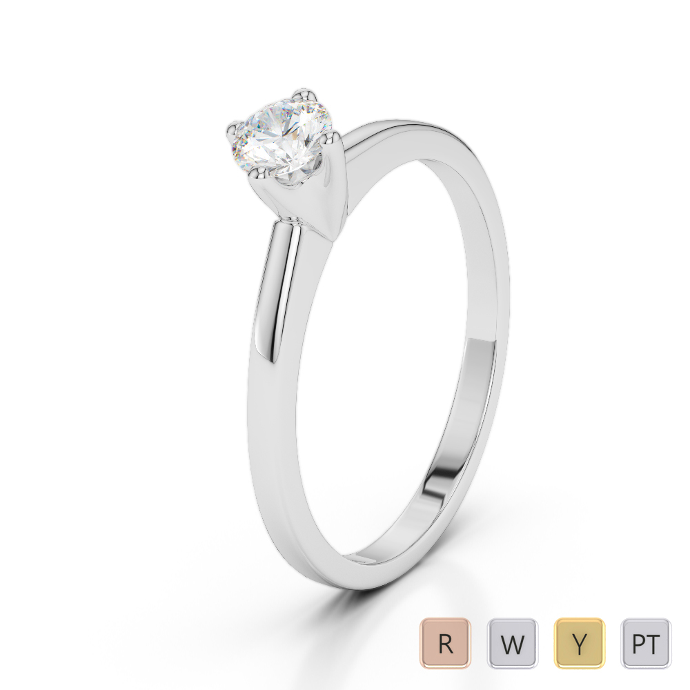 Gold / Platinum Diamond & Gemstone Engagement Ring AGDR-2028