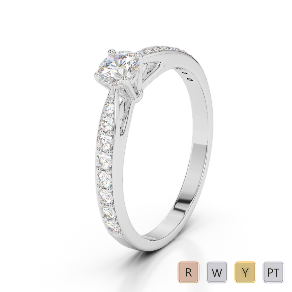 Gold / Platinum Diamond & Gemstone Engagement Ring AGDR-2032