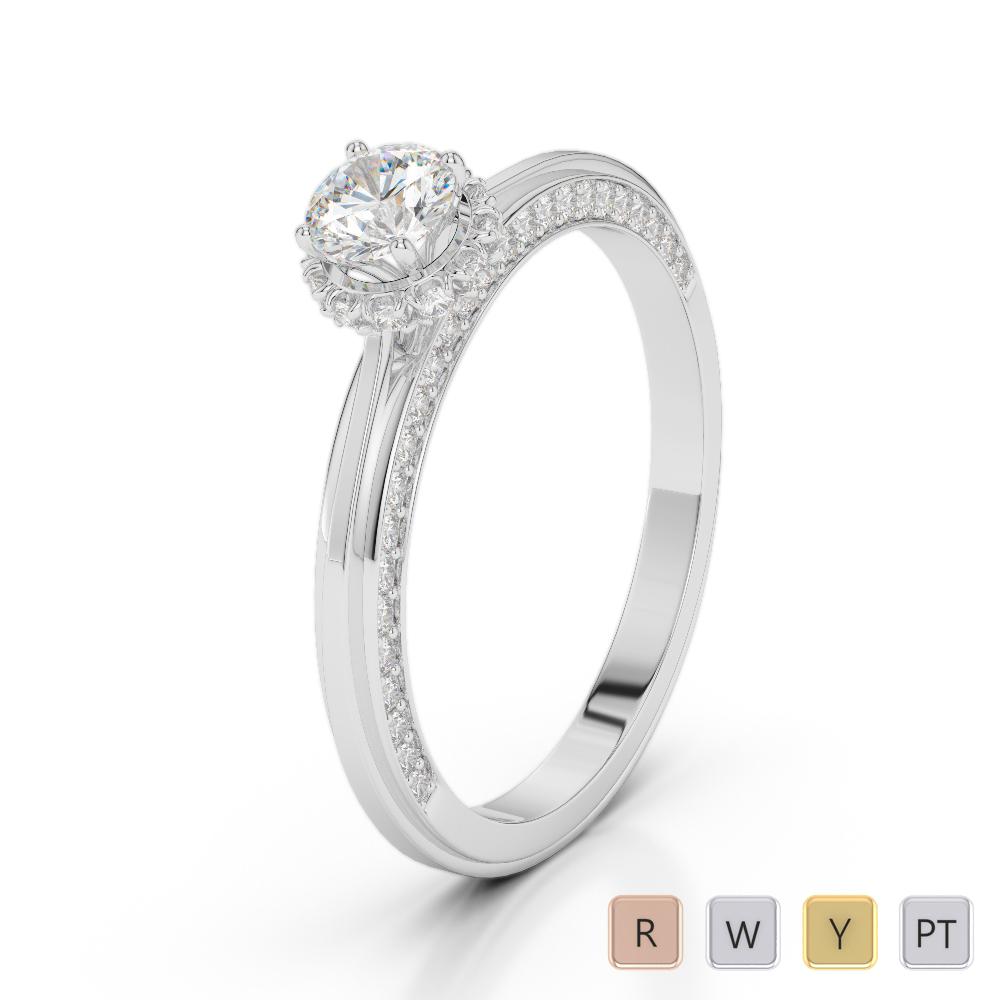 Gold / Platinum Diamond & Gemstone Engagement Ring AGDR-2034