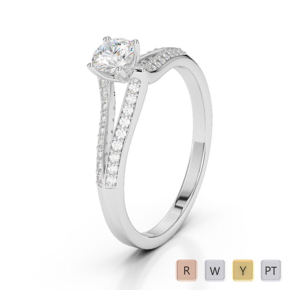 Gold / Platinum Diamond & Gemstone Engagement Ring AGDR-2038