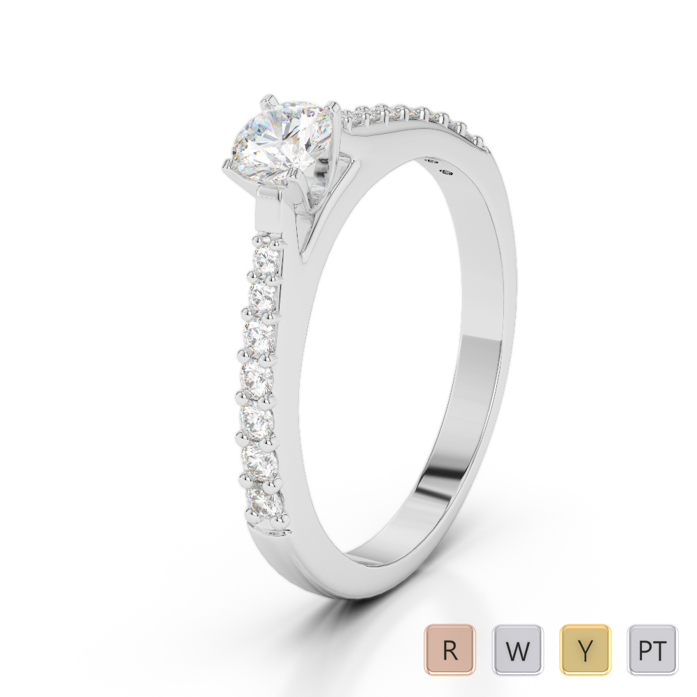 Gold / Platinum Diamond & Gemstone Engagement Ring AGDR-2040