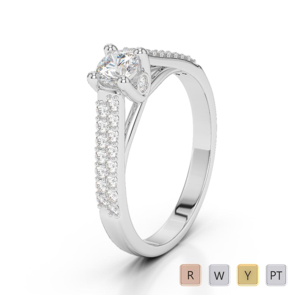 Gold / Platinum Diamond & Gemstone Engagement Ring AGDR-2046