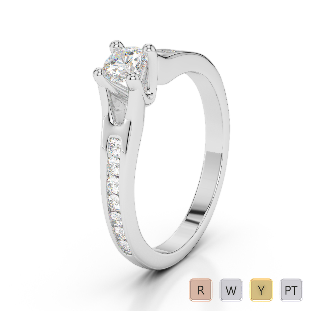 Gold / Platinum Diamond & Gemstone Engagement Ring AGDR-2048