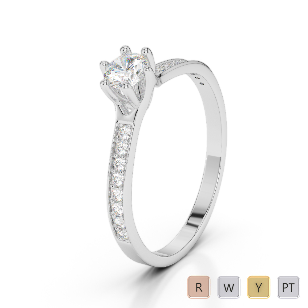 Gold / Platinum Diamond & Gemstone Engagement Ring AGDR-2050