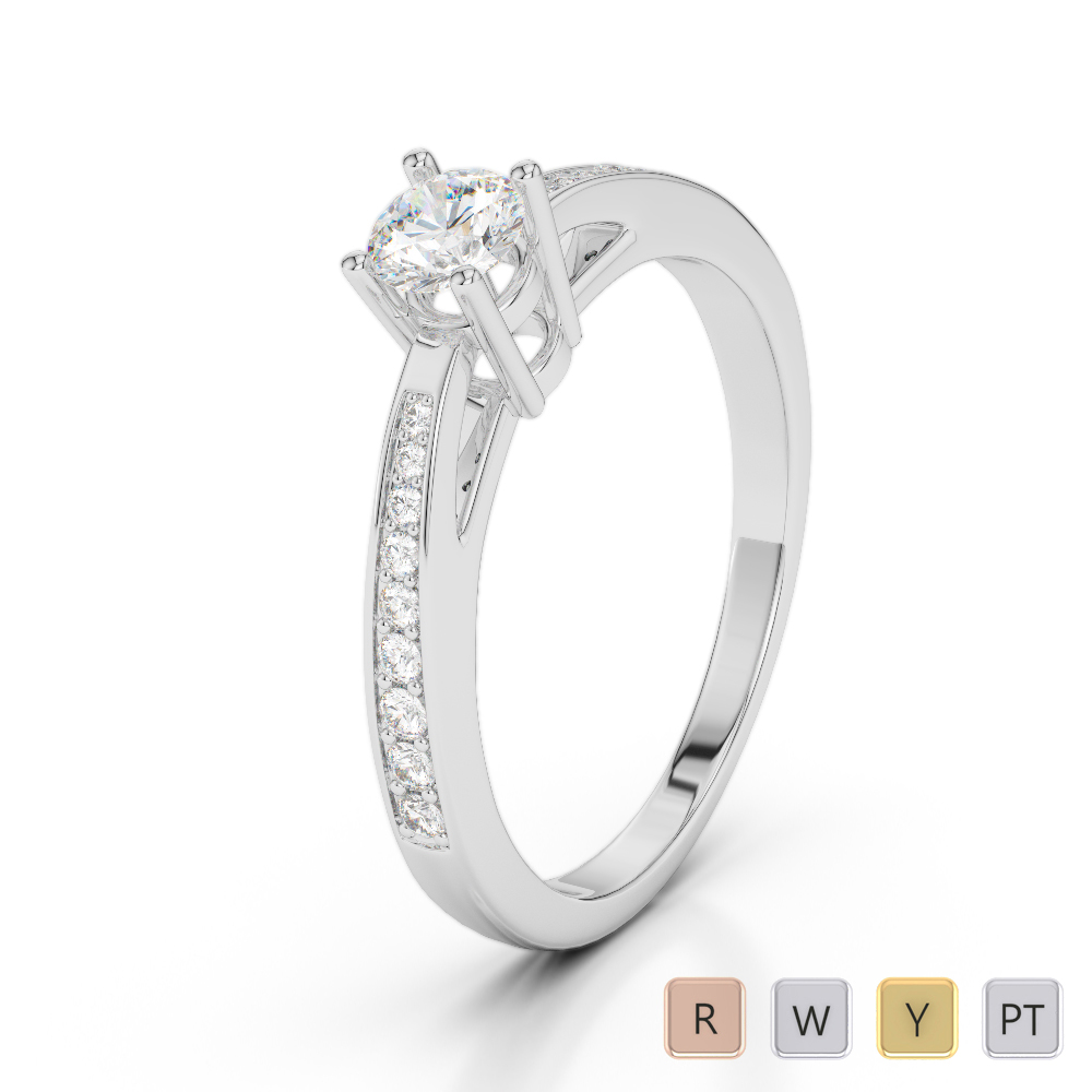 Gold / Platinum Diamond & Gemstone Engagement Ring AGDR-2052