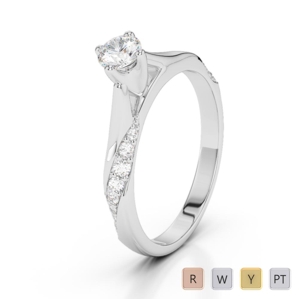 Gold / Platinum Diamond & Gemstone Engagement Ring AGDR-2060