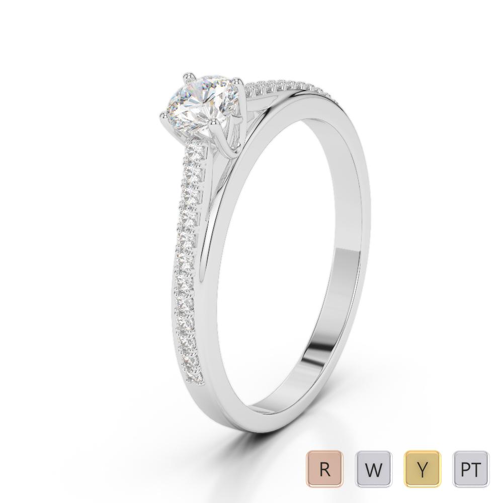 Gold / Platinum Diamond & Gemstone Engagement Ring AGDR-2062