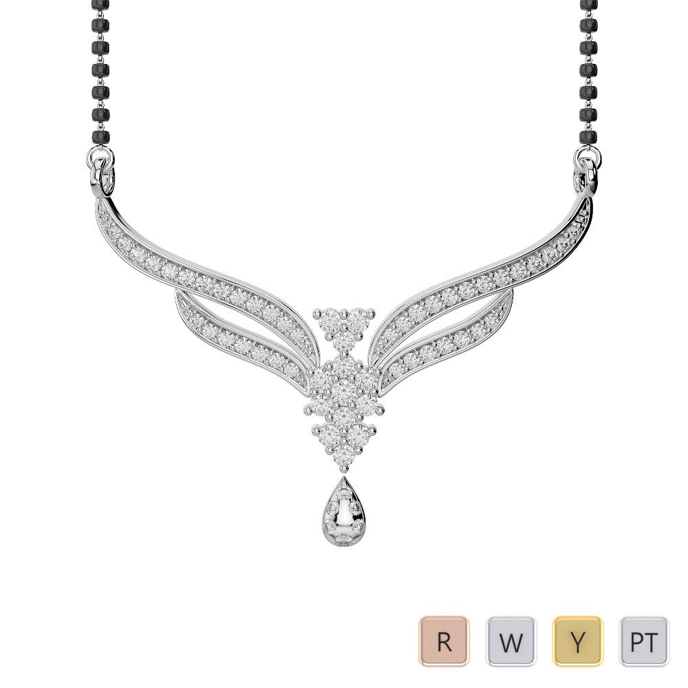 Gold / Platinum Diamond Mangalsutra Necklace DTN-31