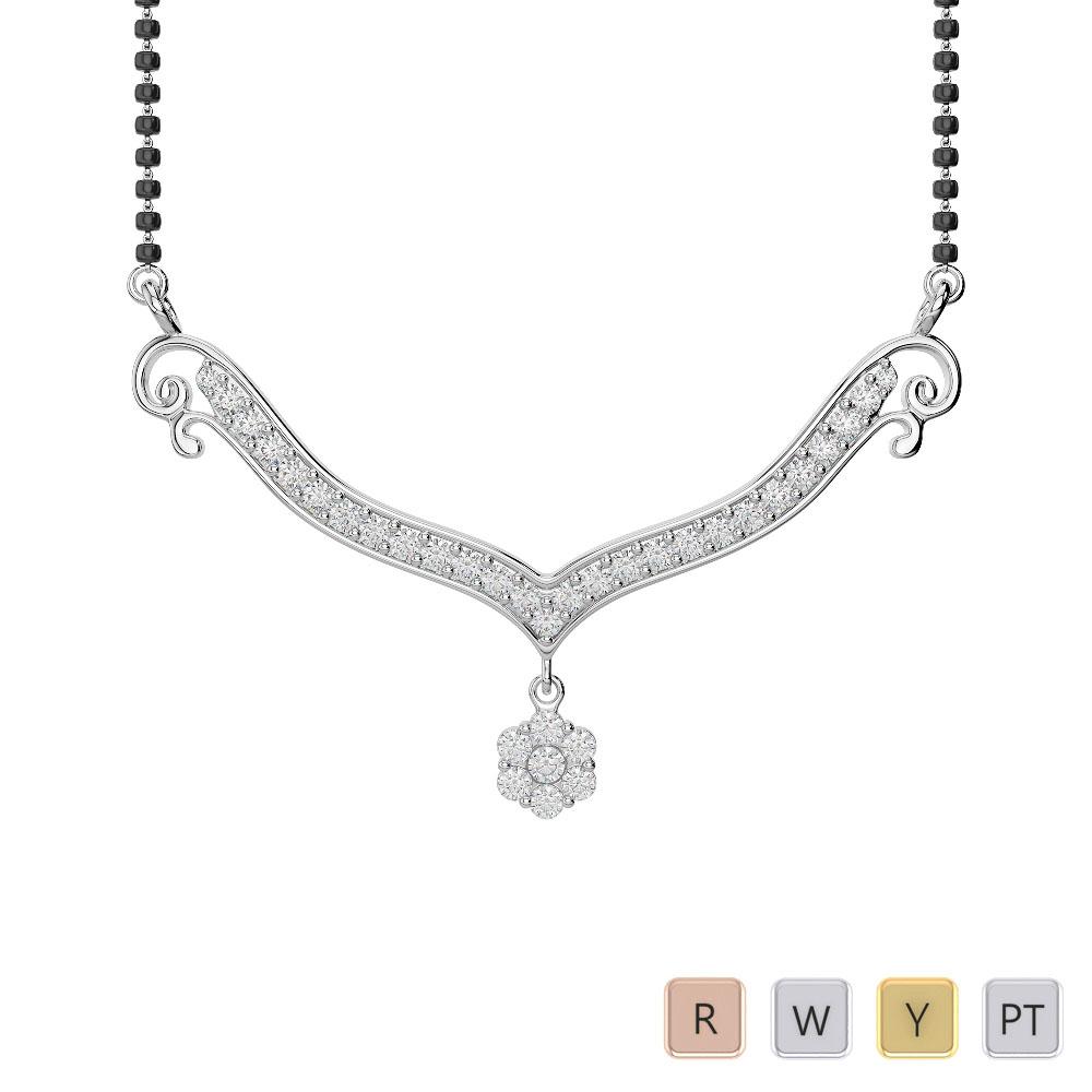 Gold / Platinum Diamond Mangalsutra Necklace IMS-1748