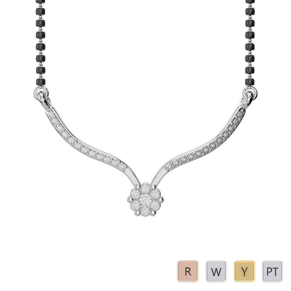 Gold / Platinum Diamond Mangalsutra Necklace IMS-1749
