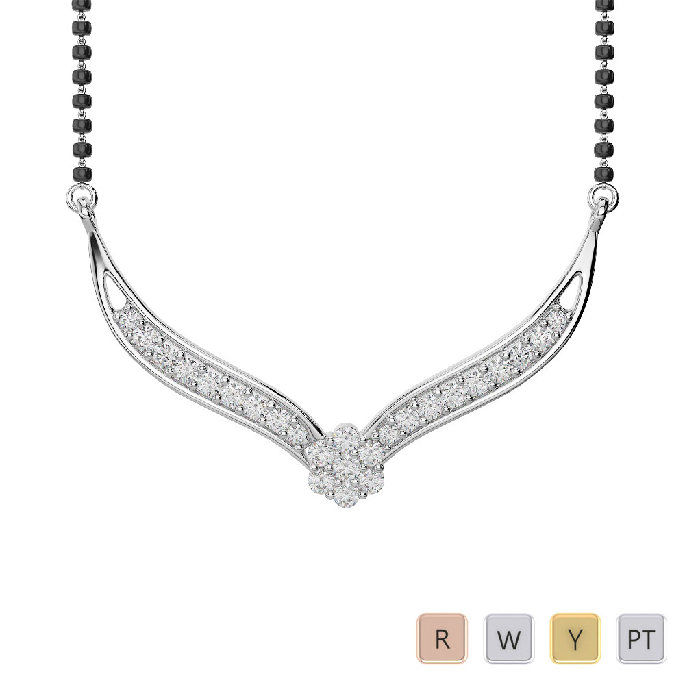 Gold / Platinum Diamond Mangalsutra Necklace IMS-1751