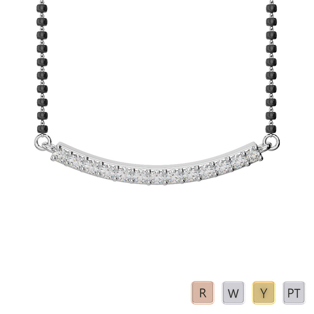 Gold / Platinum Diamond Mangalsutra Necklace IMS-1770