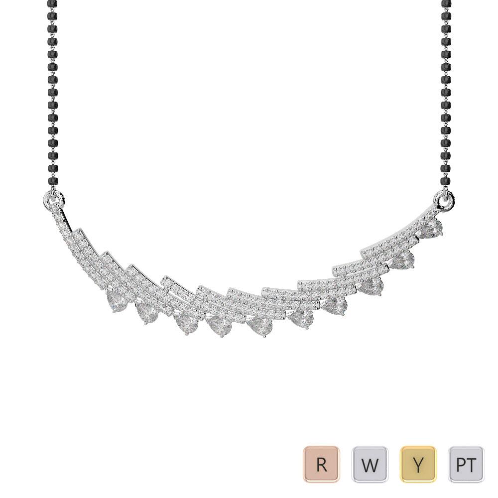 Gold / Platinum Diamond Mangalsutra Necklace IMS-1771