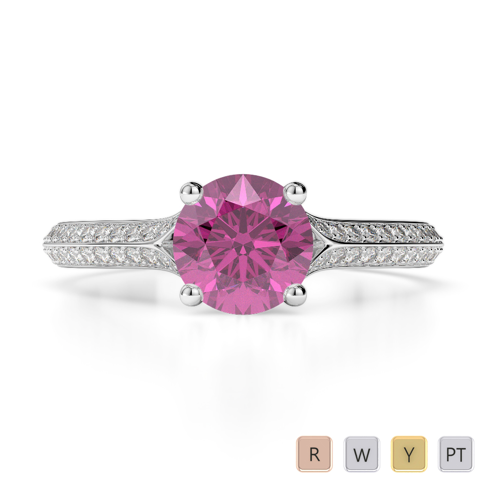 weddingforwrdcom rings platinum engagement princess pink diamond cut