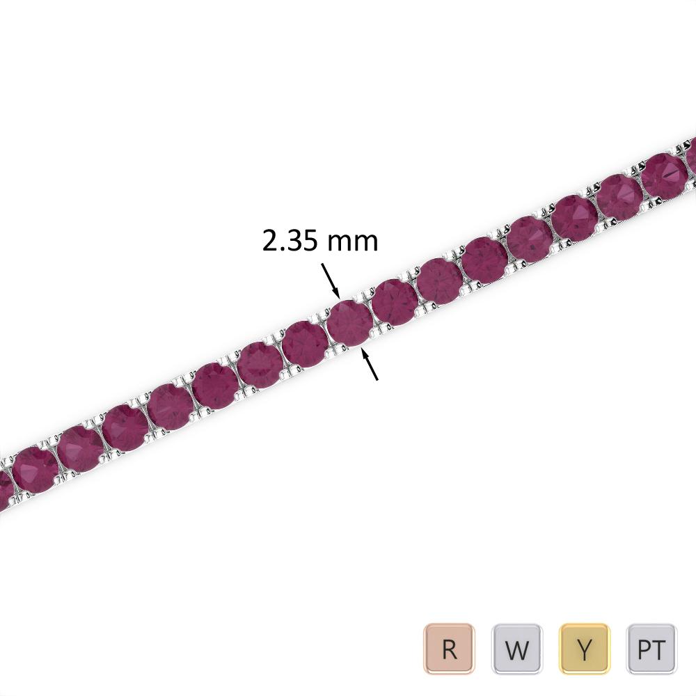 3 Ct Ruby Bracelet in Gold/Platinum AGBRL-1015