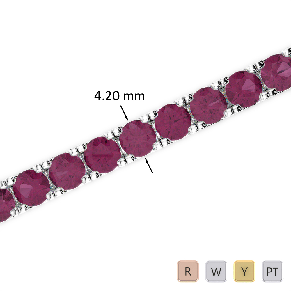 15 Ct Ruby Bracelet in Gold/Platinum AGBRL-1022