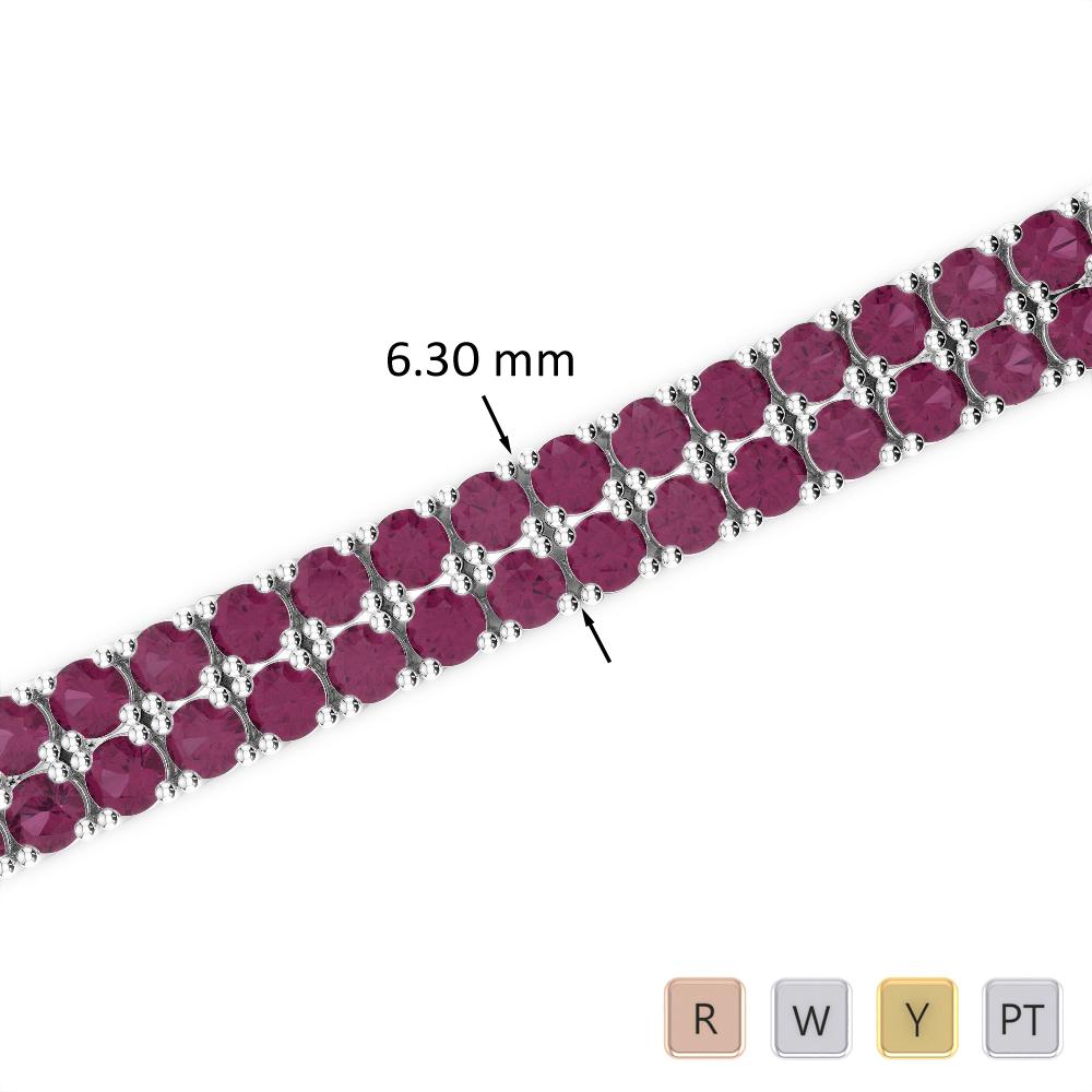 15 Ct Ruby Bracelet in Gold/Platinum AGBRL-1037