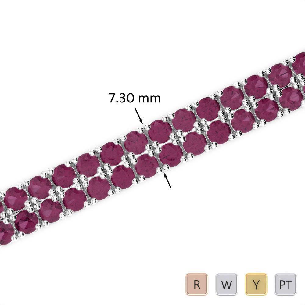 21 Ct Ruby Bracelet in Gold/Platinum AGBRL-1038