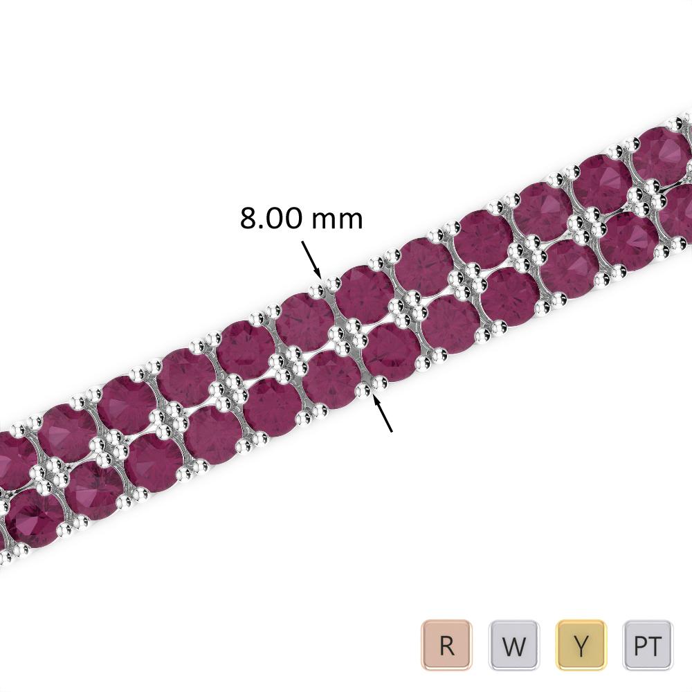 29 Ct Ruby Bracelet in Gold/Platinum AGBRL-1039