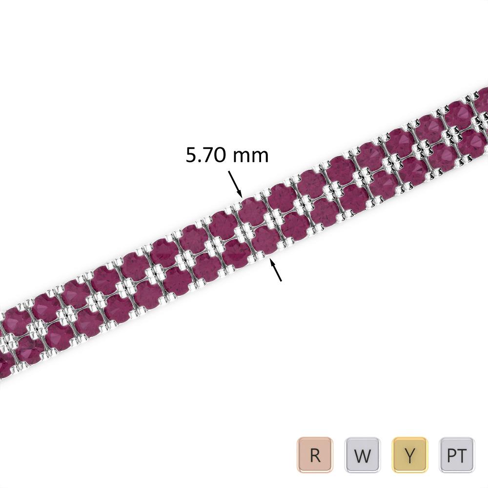 13 Ct Ruby Bracelet in Gold/Platinum AGBRL-1047