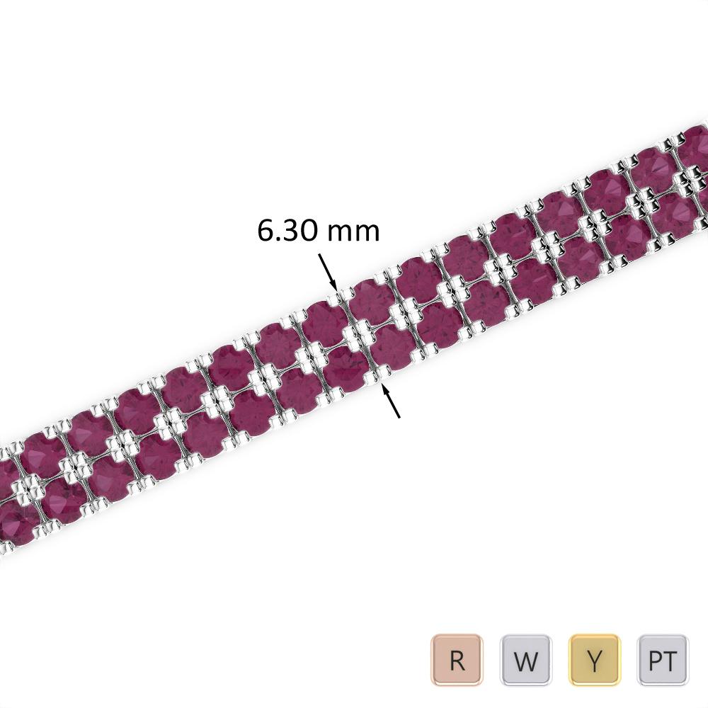 14 Ct Ruby Bracelet in Gold/Platinum AGBRL-1048