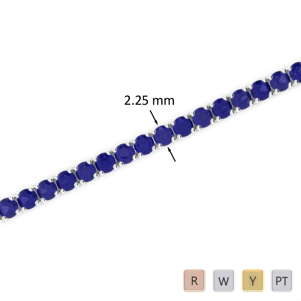 3 Ct Sapphire Bracelet in Gold/Platinum AGBRL-1004