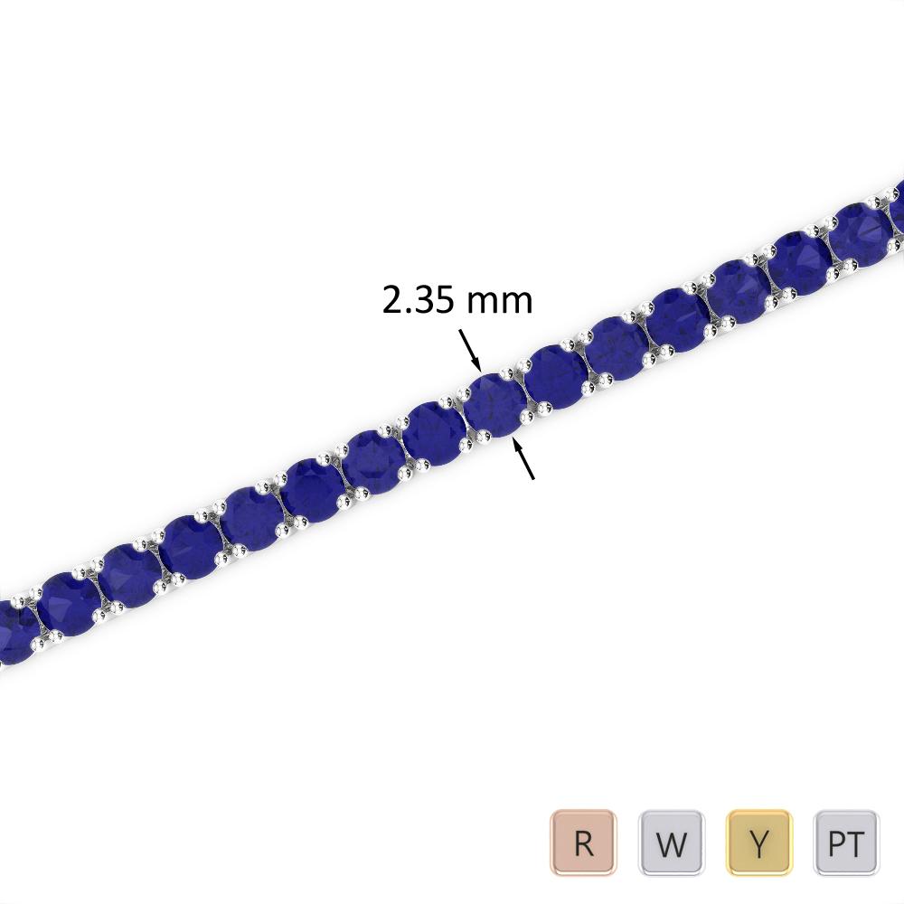 3 Ct Sapphire Bracelet in Gold/Platinum AGBRL-1005