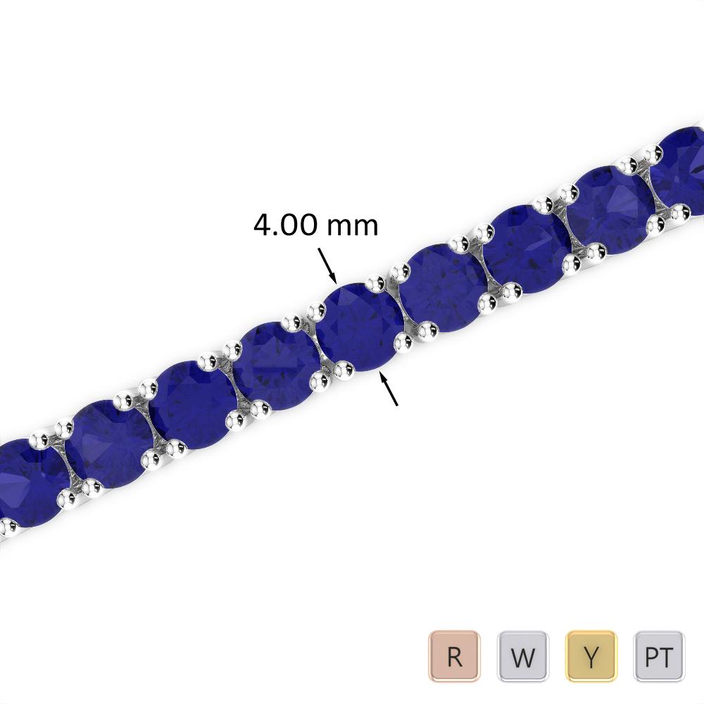 16 Ct Sapphire Bracelet in Gold/Platinum AGBRL-1011