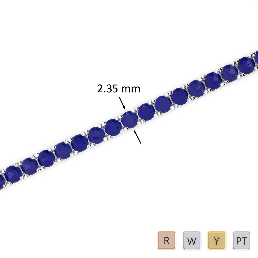 3 Ct Sapphire Bracelet in Gold/Platinum AGBRL-1015