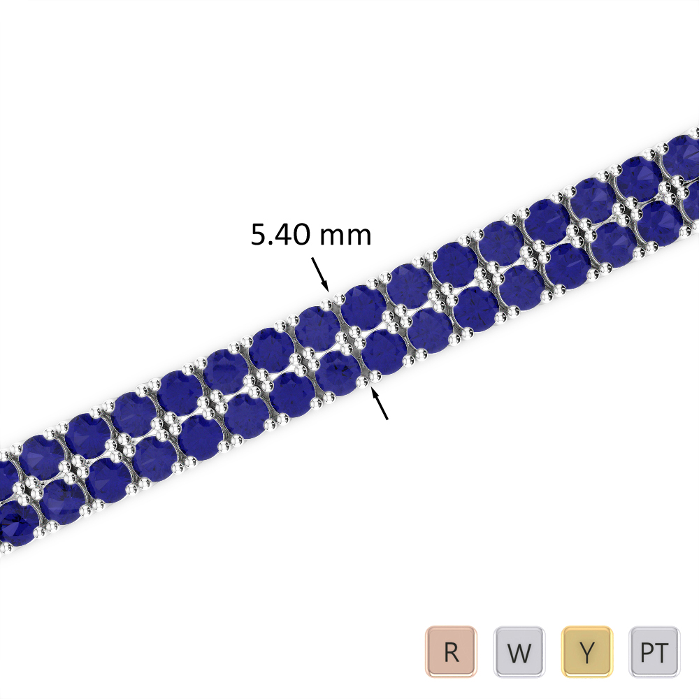 11 Ct Sapphire Bracelet in Gold/Platinum AGBRL-1035