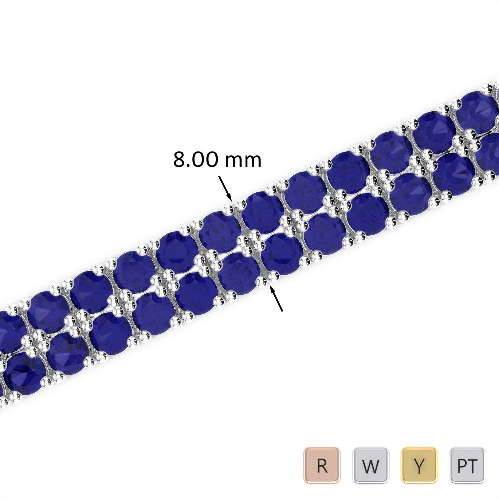 29 Ct Sapphire Bracelet in Gold/Platinum AGBRL-1039
