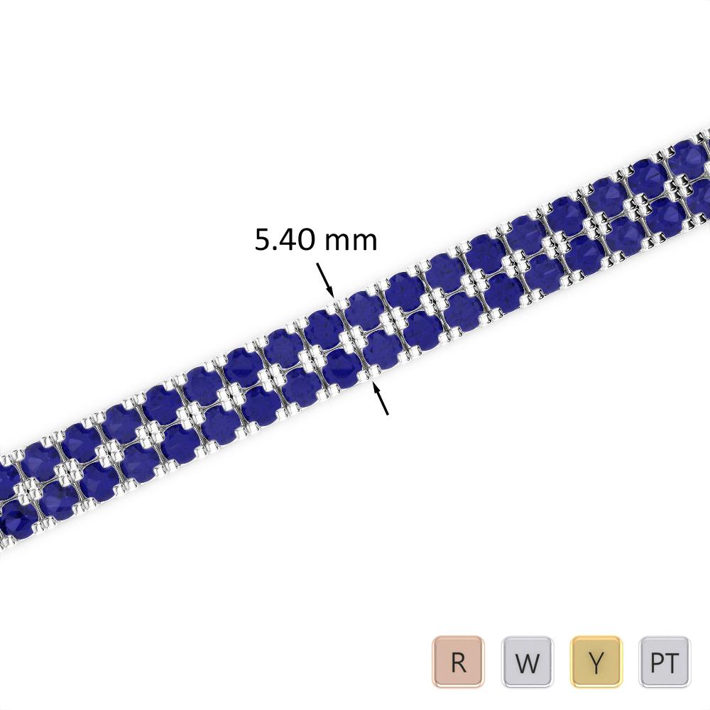 11 Ct Sapphire Bracelet in Gold/Platinum AGBRL-1046