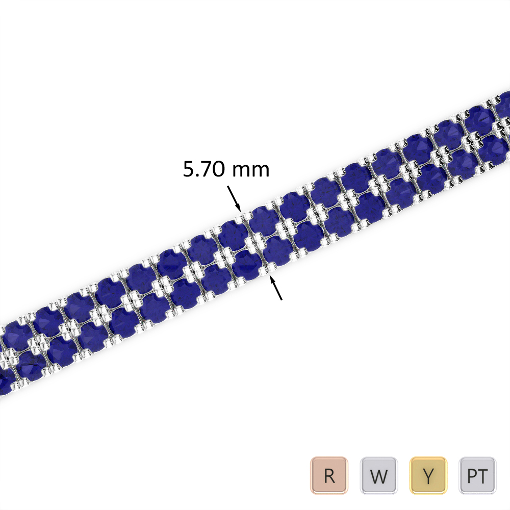 13 Ct Sapphire Bracelet in Gold/Platinum AGBRL-1047