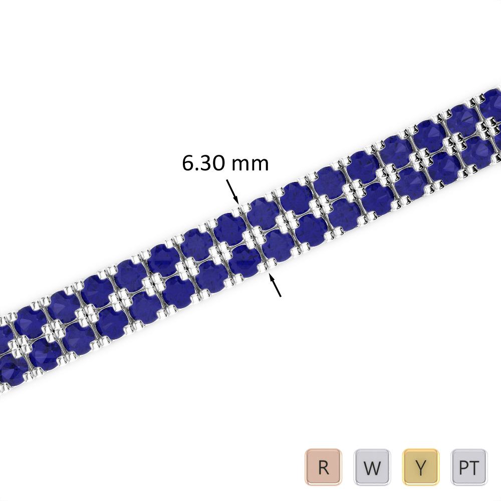 14 Ct Sapphire Bracelet in Gold/Platinum AGBRL-1048