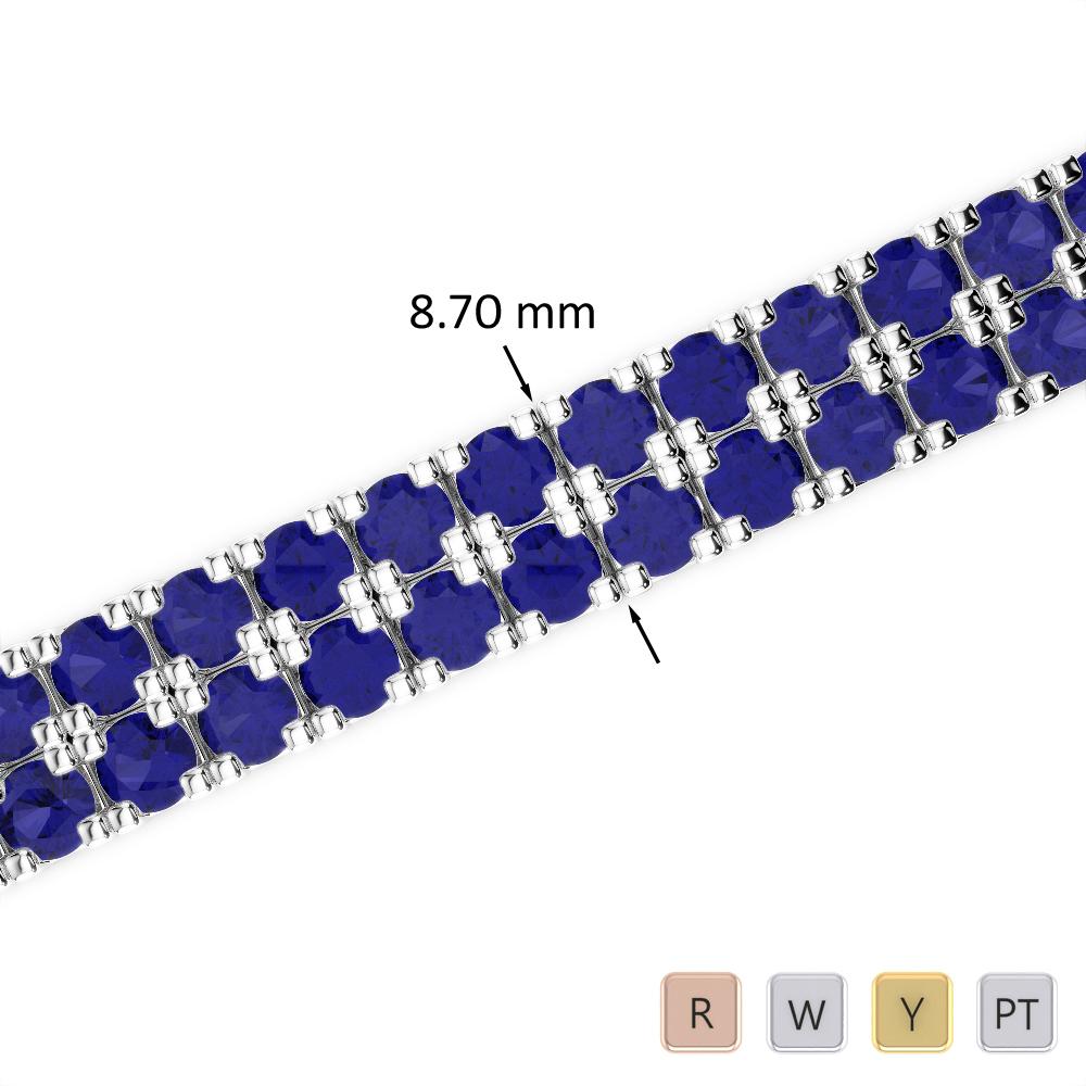29 Ct Sapphire Bracelet in Gold/Platinum AGBRL-1051