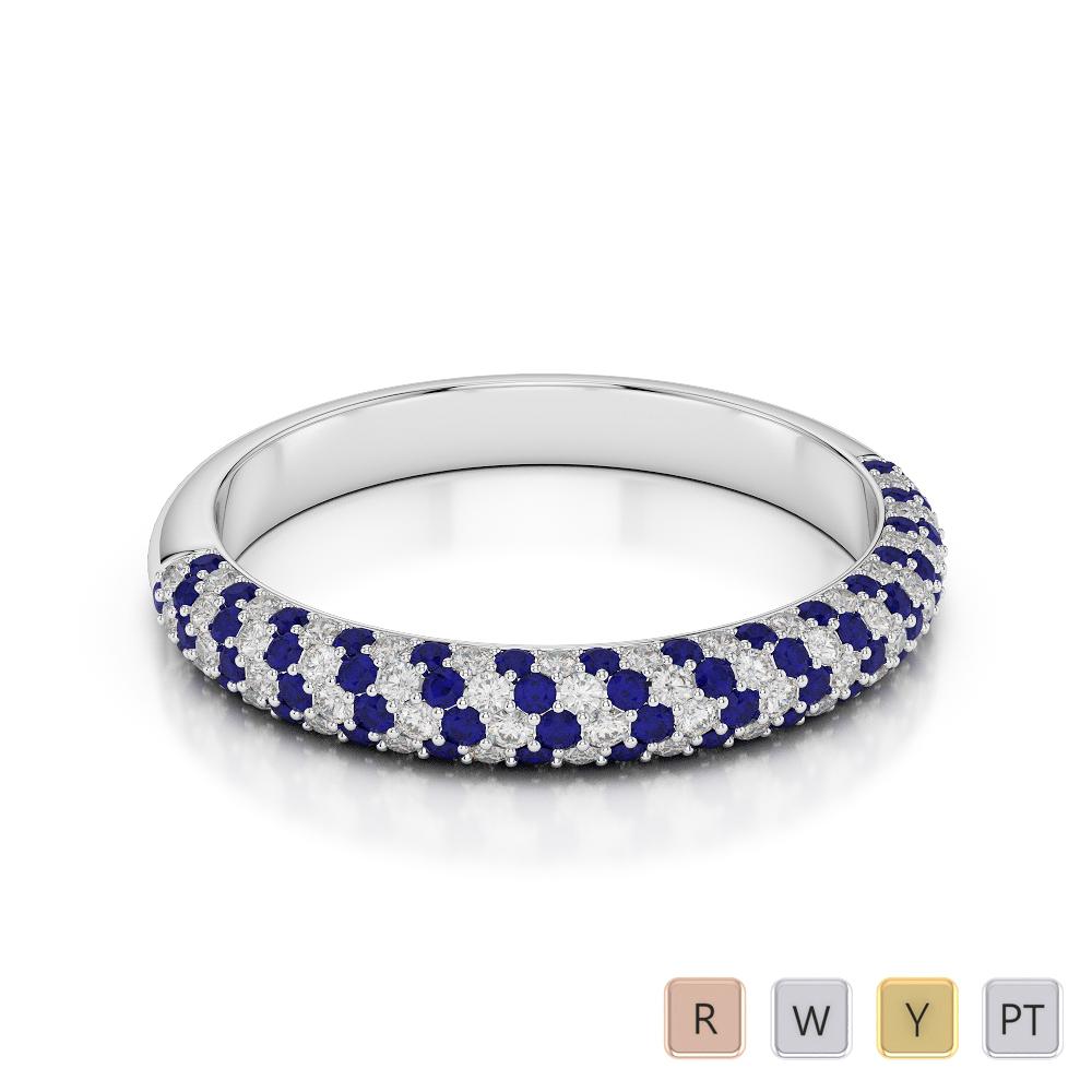 Gold / Platinum Diamond Half Eternity Ring AGDR-1117