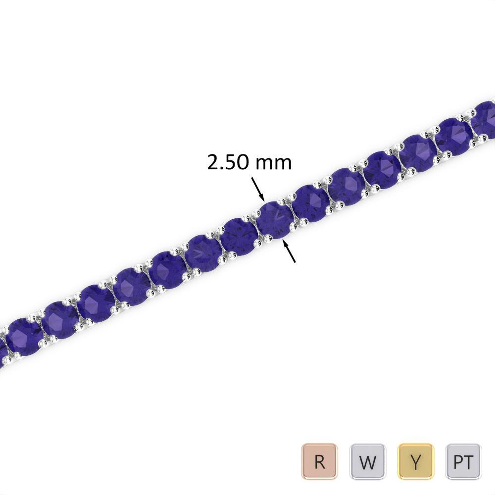 5 Ct Tanzanite Bracelet in Gold/Platinum AGBRL-1006